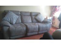 Beautiful suede 3 seater sofa