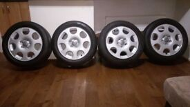 AUDI 16 inch ALLOY WHEELS (Refurbished) & TYRES - 5X112 6.5J ET50