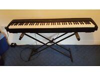 yamaha p 85 digital piano with stand.