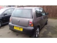"""Seat arosa 1.0 same as vw lupo 2 seater lowered 15"""" alloys side exhaust excellent condition"""
