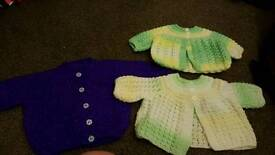 Hand knitted cardies