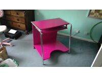 Computer desk - pink