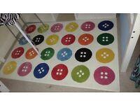 Ikea multicoloured button pattern rug