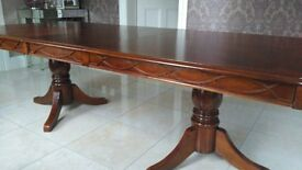 Large Dark wood extendable Dining table