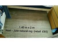 Jetu Natural rug & 2 x runner