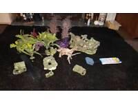 Fish tank ornaments immitation plants etc