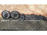 BODY POWER OLYMPIC WEIGHTS SET WITH BARBELL
