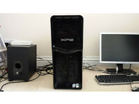 Dell XPS 630i Intel Extreme Quad-Core 3GHz PC Dual Radeon CrossFire GFX Windows 10 Pro 4Gb RAM DVDRW