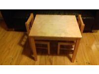 Solid Wood Table and Chair set.