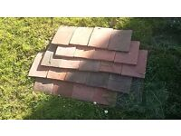 1400 Plain Tiles - terracotta handmade unused