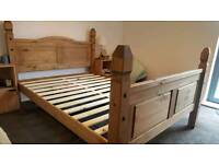 Real wooden double bed