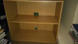 Solid bookcase with extra deep shelves
