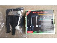 Golf swing guider practice aid