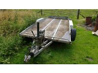 Bateson recovery transporter flat bed low loader trailer
