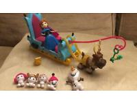 Disney frozen sleigh with Anna doll and accessories