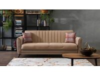 Exclusive Sale ! Brand New Elegant Turkish Sofa Bed with Large + Free Cushions