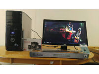 """Fast SSD Dell XPS 430 Quad Core Gaming Desktop Computer PC With Dell 24"""""""