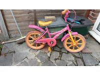 Girls bike (used) for 5-7 year old.