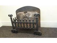 Antique Cast Iron Fire Grate