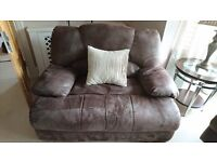 2 x Brown Suede Leather Chair and a Half - Hardly used - REALLY REALLY Comfortable £150 EACH OBO