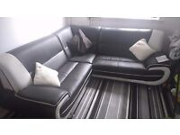 Leather corner sofa,,very good condition £130ono
