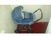 blue babystyle pram