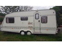 Elddis 5 berth caravan twin axel in good condition.