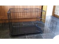 """30"""" medium dog/puppy cage with 2 doors and removable tray"""