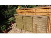 4 garden lap panels panel closeboard trellis