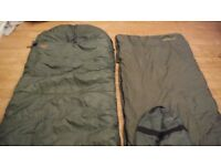 Fishing sleeping bag carp tackle wychwood and gardner