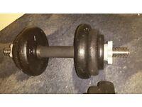 York cast iron dumbbells 20kg (2×10kg)