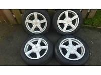 15inch 5x100 Fox alloys rims wheels fit mk4 golf fox polo seat ibiza toledo etc