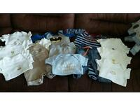 Job Lot Baby Boys Clothes 0-3 Months