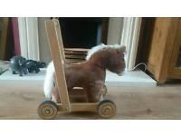 Baby push along horse walker