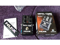 NUX Metal Core Deluxe Guitar Effects Pedal - brand new