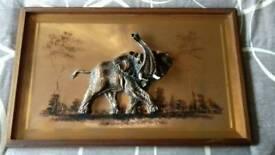 3D Copper elephant picture