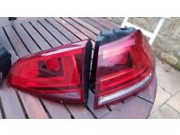 VW Golf Mk7 VII RIGHT Rear Tail Lights (inside & outside) Perfect Condition Genuine Original