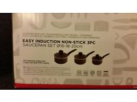 NON-stick 3 pan cookware set