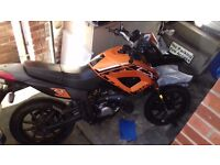 Well maintained, reasonable condition 49cc Keeway motorbike.