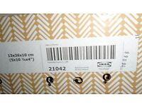Ikea storage boxes with lids 13 x 26 x 10cm x2