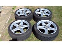 """Mercedes 4x 18"""" alloy wheels (removed from a 2005 E-Class)"""