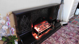 Ornamental fireplace.. small display cabinets..........Very good condition.