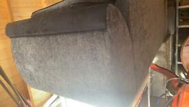 2 x 4 seater grey and black sofas