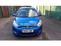 HYUNDAI I10 ACTIVE, BLUE, MANUAL, PETROL 1.2 2011 £20 ROAD TAX