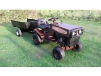 LASER BY MOUNTFIELD RIDE ON TRACTOR AND TIPPER TRAILER IN GOOD WORKING ORDER SERVICED £485