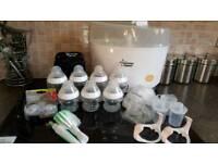 Tommee Tippee Steam Steriliser and Bottles Starter Kit