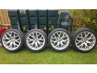 """Bmw 19"""" alloy wheels with good tyres"""