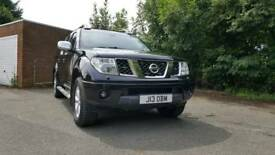 Nissan navara aventura d40 in black with snugtop and leather manual 6 speed