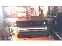 Xbox One 500gb with 1 red wired controller. games in description.