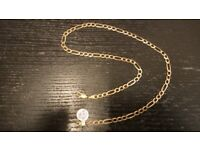 9CT GOLD FIGARO CHAIN - 8.4 GRAMS - 18 INCHES